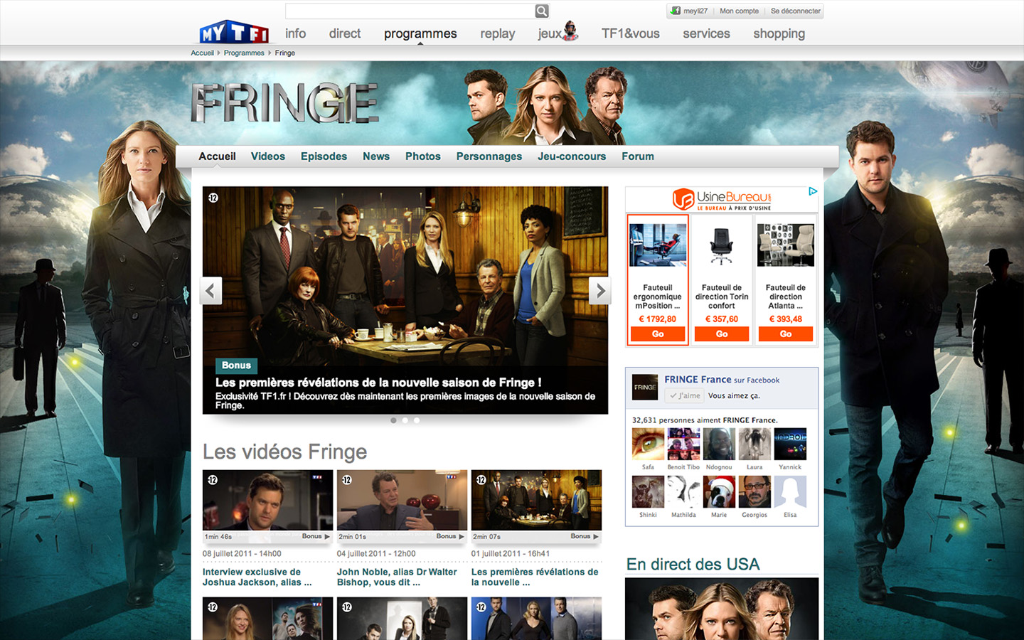 Fringe - Website 2