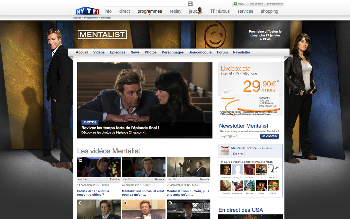 Mentalist - Website 2