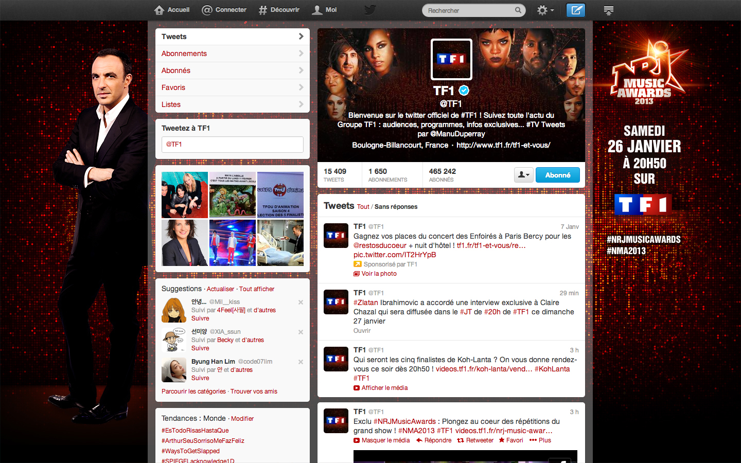 NRJ Music Awards 2013 - Twitter TF1 2
