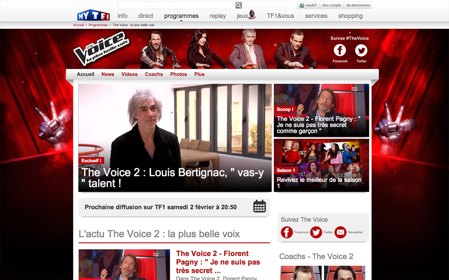 The Voice 2 - Website 2