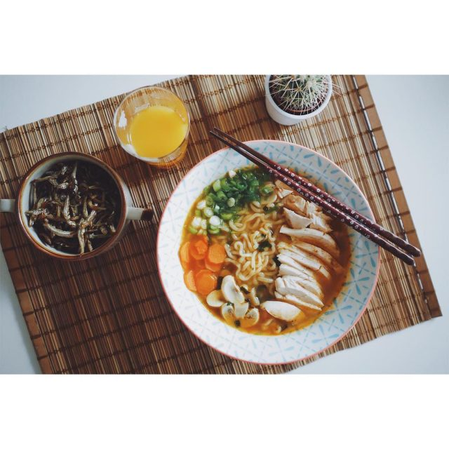 Chicken Ramen lunch ramen home instafood yummy anchovies france cookinghellip